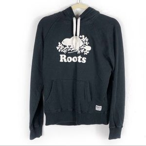 Roots Canada Hoodie Spell Out Sweatshirt Logo